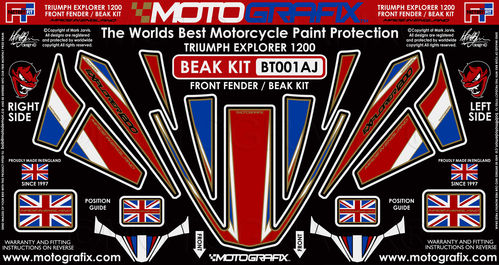 Triumph Tiger Explorer 1200 2012 - 2017 Motorcycle Beak Protector Paint Protection Decal BT001AJ