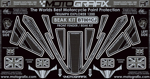 Triumph Tiger Explorer 1200 2012 - 2015 Motorcycle Beak Protector Paint Protection Decal BT001CJ