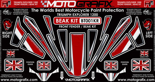 Triumph Tiger Explorer 1200 2012 - 2017 Motorcycle Beak Protector Paint Protection Decal BT001KR
