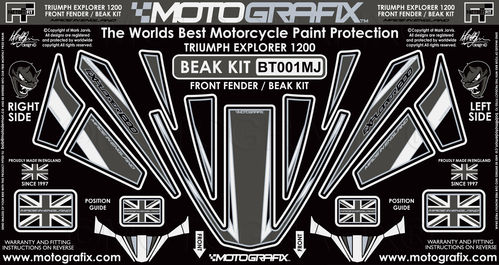 Triumph Tiger Explorer 1200 2012 - 2017 Motorcycle Beak Protector Paint Protection Decal BT001MJ
