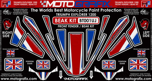 Triumph Tiger Explorer 1200 2012 - 2015 Motorcycle Beak Protector Paint Protection Decal BT001UJ