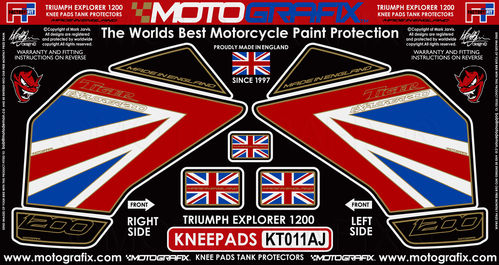 Triumph Tiger Explorer 1200 2012 - 17 Motorcycle Knee Pad Protector Paint Protection Decal KT011AJ