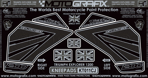 Triumph Tiger Explorer 1200 2012 - 17 Motorcycle Knee Pad Protector Paint Protection Decal KT011CJ