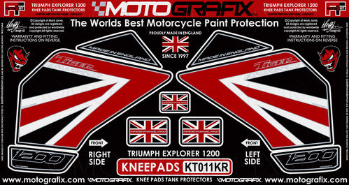 Triumph Tiger Explorer 1200 2012 - 17 Motorcycle Knee Pad Protector Paint Protection Decal KT011KR