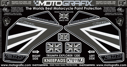Triumph Tiger Explorer 1200 2012 - 17 Motorcycle Knee Pad Protector Paint Protection Decal KT011MJ