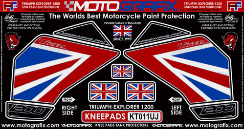 Triumph Tiger Explorer 1200 2012 - 17 Motorcycle Knee Pad Protector Paint Protection Decal KT011UJ