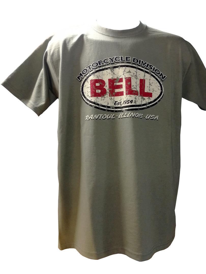 Bell Auto Racing Retro Logo Design mens T-shirt Tee Khaki ...
