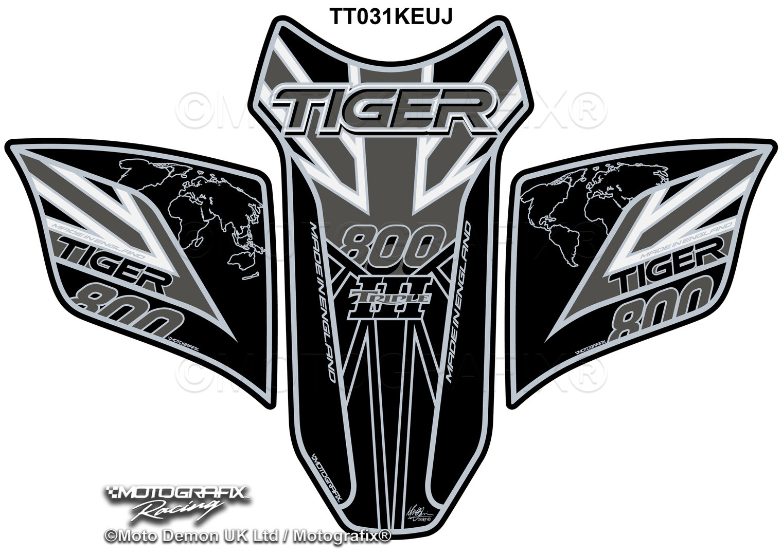 3D Motorcycle Tank Pad Protector Decal Stickers Case for Triumph 675R Tiger 800 XC Speed Triple Color : A