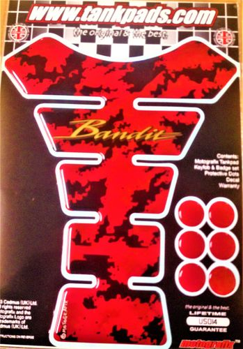 Suzuki Bandit Red Black Motorcycle Tank Pad Protector Paint Protection Decal US014 S1