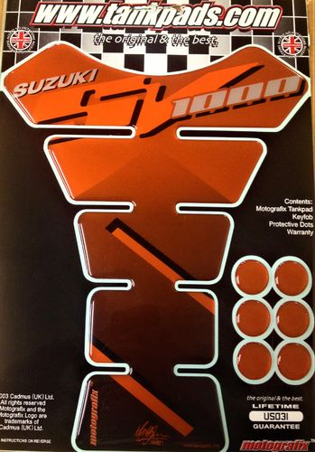 Suzuki SV 1000 Orange Motorcycle Tank Pad Protector Paint Protection Decal US031 S1