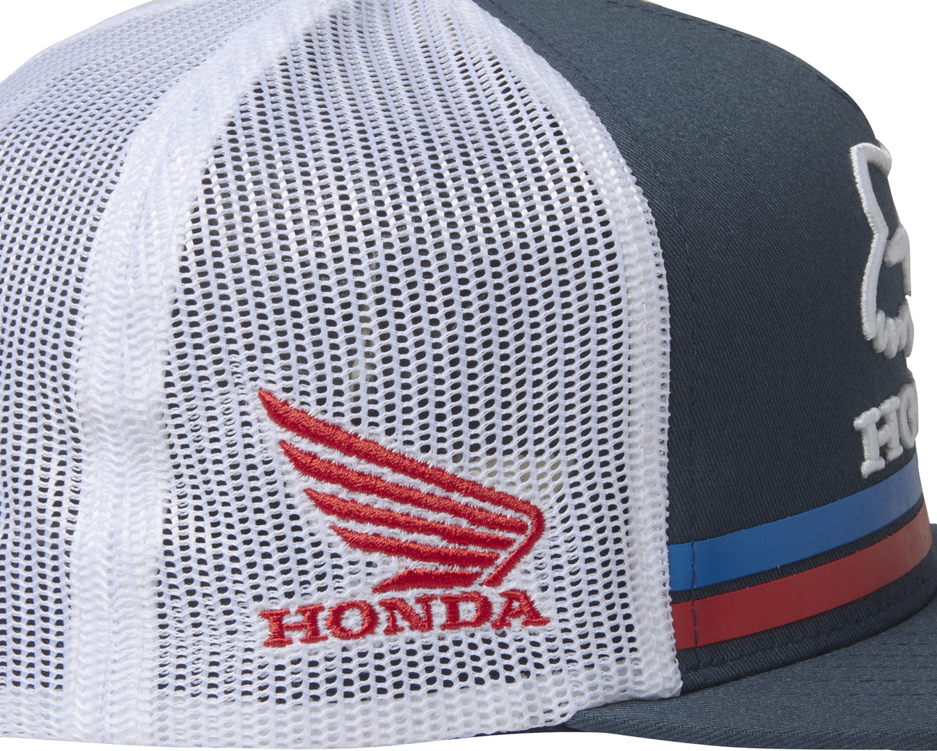 sports shoes 0870e 2a9ee ... Fox Racing HRC Fox Honda Snapback Hat Cap Unisex Motocross Style  22996-007 NVY ...