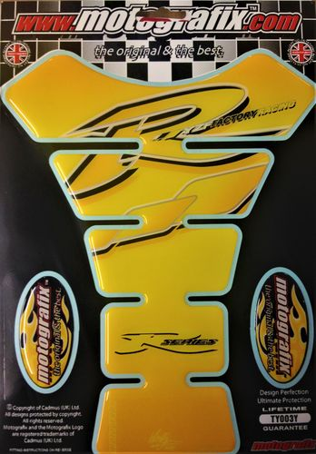 Yamaha R1 R6 Yellow Motorcycle Tank Pad Protector 3D Gel Paint Protection TY003Y S1