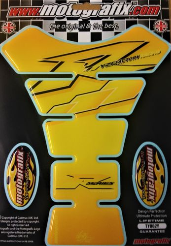 Yamaha R1 R6 Yellow Motorcycle Tank Pad Protector 3D Gel Paint Protection TY002Y S1