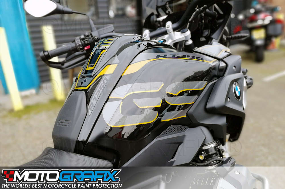 BMW R1250GS 2018 2019 White Motorcycle Tank Pad Protector Paint Protection Decal