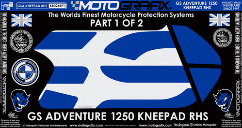 BMW R1250GS Adventure 2019 Rallye HP Motorcycle Tank / Knee Section Paint Protector KB024B