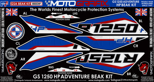 BMW R1250GS Adventure HP 2019 Motorcycle Beak Paint Protector BB003HP