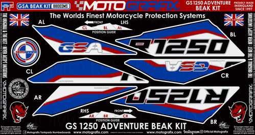 BMW R1250GS Adventure 2019 Motorcycle Beak Paint Protector BB003MS