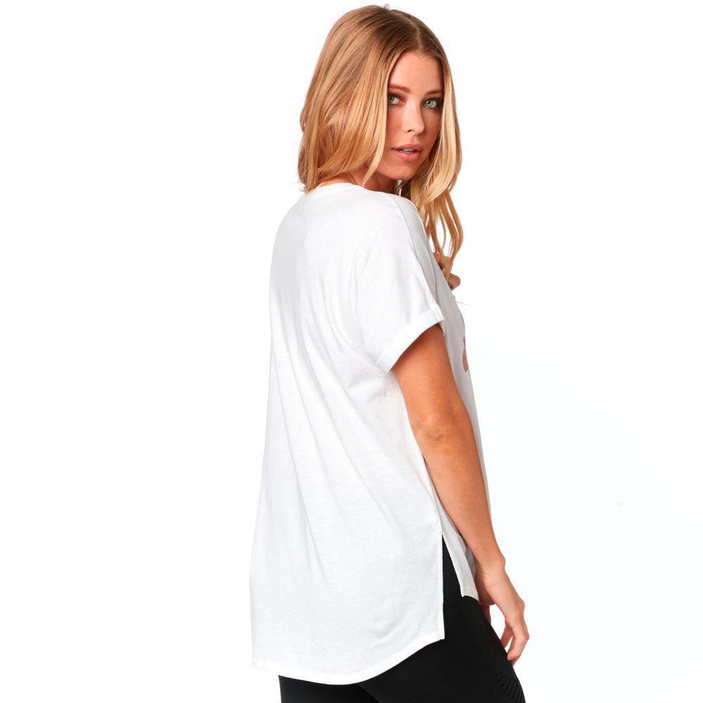 New Fox Women/'s Blue Responded V-Neck Roll Sleeve Shirt Top S M L XL 21937-002