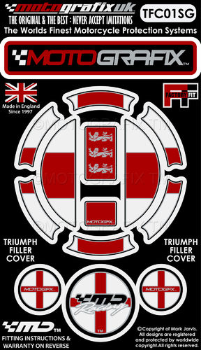 Triumph St George Motorcycle Filler Fuel Gas Cap Protector Paint Protection Decal TFC01SG