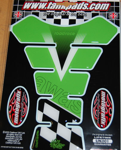 Kawasaki zx6r zx9r zx10r etc Motorcycle Tank Pad Protector 3D Gel Paint Protection UK001 S1