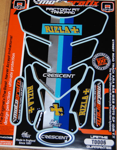 Rizla / Cresent Suzuki GSXR Motorcycle Tank Pad Protector Paint Protection Decal TO006 S1
