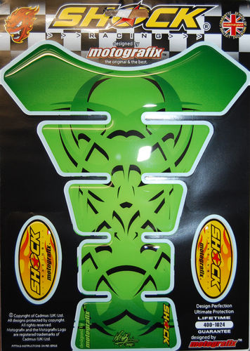Celtic Tribal Tattoo Green Motorcycle Tank Pad Protector Motografix 3D Gel SHOCK03G S1