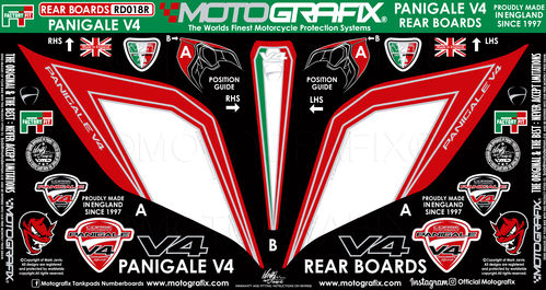 Ducati Panigale V4 / S 1100 2018 19 Motorcycle Rear Seat Unit Paint Protector Gel Protection RD018R