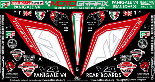 Ducati Panigale V4 / S 1100 2018 19 Motorcycle Rear Seat Unit Paint Protector Gel Protection RD018RV