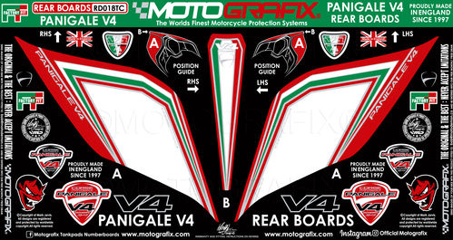 Ducati Panigale V4 / S 1100 2018 19 Motorcycle Rear Seat Unit Paint Protector Gel Protection RD018TC