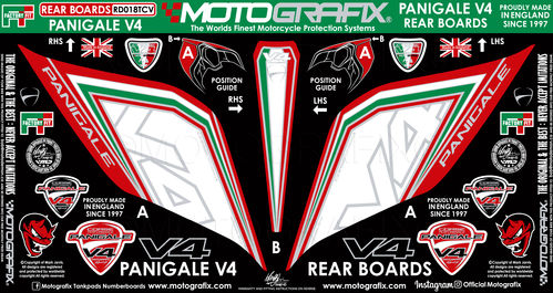 Ducati Panigale V4 / S 1100 2018 19 Motorcycle Rear Seat Unit Paint Protector RD018TCV