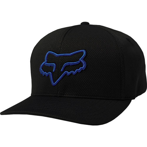 Fox Racing Head Lithotype Flexfit Baseball Cap Fox Moto 21976-013 BLK/BLU