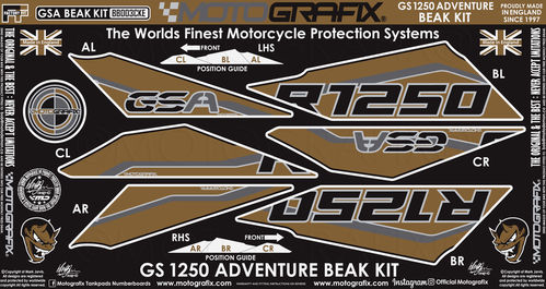 BMW R1250GS Adventure 2019 2020 Motorcycle Beak Paint Protector BB003CKE