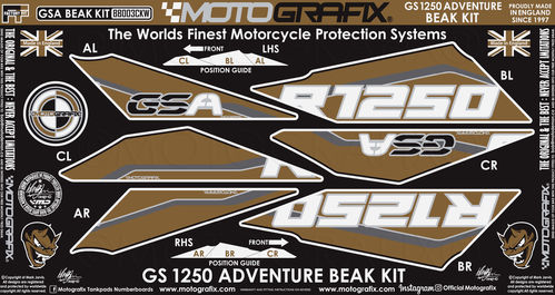 BMW R1250GS Adventure 2019 2020 Motorcycle Beak Paint Protector BB003CKW