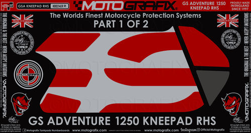 BMW R1250GS Adventure 2019 2020 Motorcycle Tank / Knee Section Paint Protector KB024ER