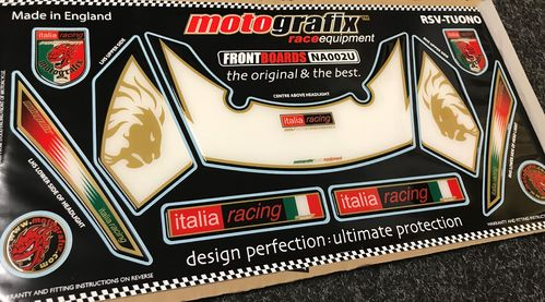 Aprilia RSV1000 / Tuono Fighter 2002 - 2005 Motorcycle Front Fairing Paint Protector NA002U S1C