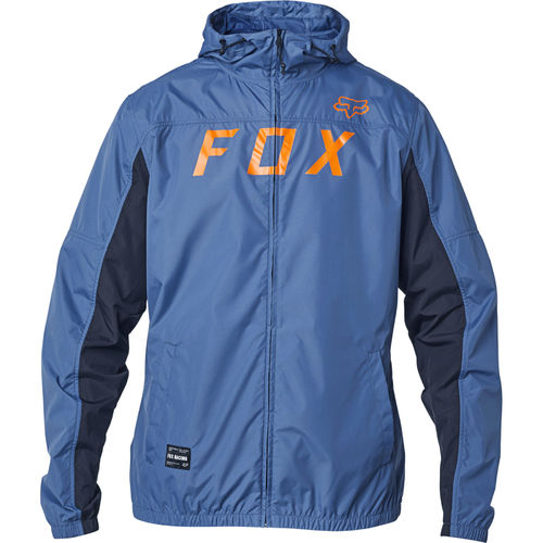 Fox Racing Moth Windbreaker Water Repellent Shell Jacket / Coat 24423-305 BLU STL