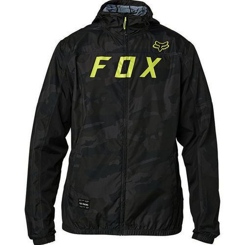 Fox Racing Moth Windbreaker Water Repellent Shell Jacket / Coat 24757-247 BLK CAM