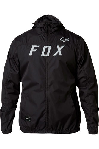 Fox Racing Moth Windbreaker Water Repellent Shell Jacket / Coat 24423-014 BLK/GRY