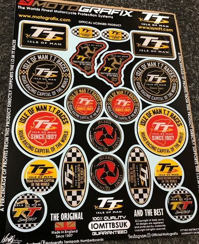 Isle Of Man TT Races IOM TT Official Licensed 3D Gel Badge Decal Sticker Kit IOMTTOBSUK S1C