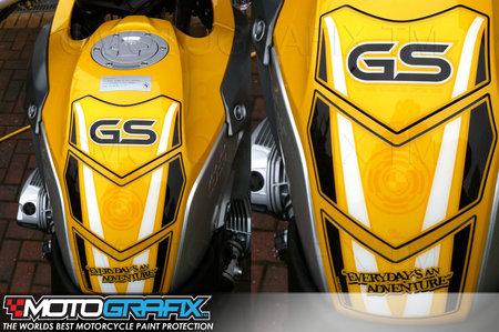BMW R1200GS Yellow Black 2008-12 Beak Guard Kit Motografix 3D Gel Protector